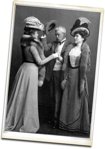 Frank Furness and two ladies ca 1890