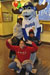Bluewinkle from the Wilmington Blue Rocks poses with some visitors.