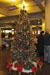 The station was adorned with decorations including this Christmas tree.