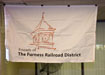 The new Friends of the Furness Railroad District banner unveiled.