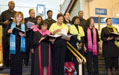 The Wilmington Train Station echoed harmonies from a local choir.